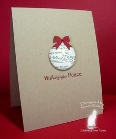 I love the red ink on Kraft card.
