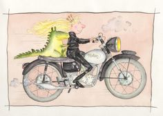 Creator of motorcycle-riding children's character Princess Smartypants dies aged Little Island, Kid Character, Smarty Pants, Old Skool, S Pic, Pictures To Draw, Conte, Limited Edition Prints, Happy Easter