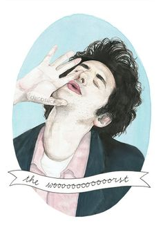 Jean Ralphio portrait illustration PRINT by ohgoshCindy on Etsy Cool Stuff, Movies Showing, Movies And Tv Shows, Jean Ralphio, Tori Tori, Parks And Recs, Parks Department, Portrait Illustration, Parks And Recreation