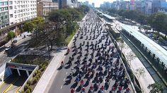 10º Caravana solidaria 2015 en moto filmada desde drone org. por Kawaclu...