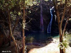 Charco Azul - El Risco - Agaete - Gran Canaria Waterfall, Plants, Outdoor, Earth, Islands, Blue, Paisajes, Outdoors, Waterfalls