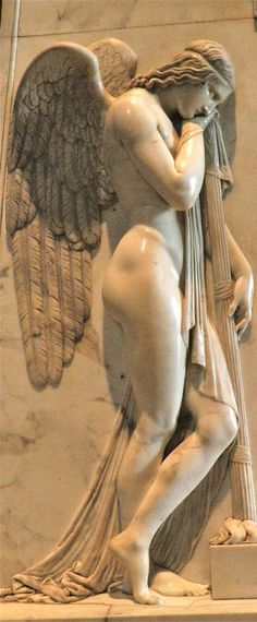 Stone Carved Marble Angel Sculpture Statue - We are manufacturer, exporters and suppliers. You can contact us at www. Angel Sculpture, Roman Sculpture, Art Sculpture, Cemetery Angels, Cemetery Art, Angels Among Us, Angels And Demons, Adventure Holidays Europe, Statue Ange