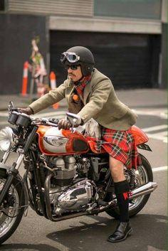 Scottish biker!