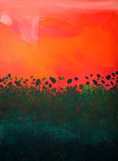 """Red Sky"" painting by Debra Bianculli www.debrastudio.com"