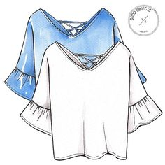 Good objects - white top and light blue top .... #goodobjects #illustration