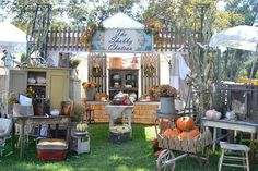 Welcome back The Shabby Chateau,  #vintage #antiques #accessories booth display ideas vintage cabinets  farm tables