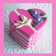 Heart Trinket Box Fuchsia by RFColorfulCreations on Etsy, $13.00