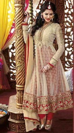 Off White Georgette Designer Anarkali Suit