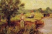 "New artwork for sale! - "" The Rush Gatherers by Henry John Yeend King "" - http://ift.tt/2pkYigW"