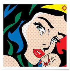 Wonder Woman als Premium Poster von Mark Ashkenazi | JUNIQE