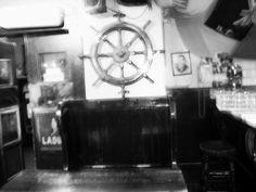 steering wheel in a pub