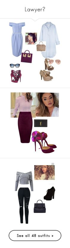 Lawyer💼 by dannysoccer on Polyvore featuring polyvore, fashion, style, Miss Selfridge, Marques'Almeida, Givenchy, GUESS, Sophie Hulme, Ray-Ban, Tory Burch, clothing, Christian Louboutin, Yves Saint Laurent, New Look, Versace, WithChic, LE3NO, Etro, MICHAEL Michael Kors, Kate Spade, Lacoste, Stuart Weitzman, Hervé Léger, Michael Kors, Peace of Cloth, Wildfox, Club L, Glamorous, Miss KG, Ted Baker, Topshop, Gianvito Rossi, CÉLINE, Rolex, Steve Madden, Equipment, Forever New, Sergio Rossi…