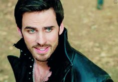 Proud Hook after he said to Emma to use her magic. This look is EVERYTHING. I can feel he could look into my soul if he wants. #ouat #onceuponatime