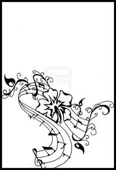 Music- Hibiscus Tattoo by DabsofKiwi.deviantart.com