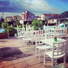 #wonderful #bar Bikini at #loano2village #likeit #rivieraligure #goodday #cloudandsunny #Italy #colors #pools