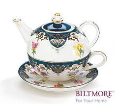 Biltmore Porcelain Teacup Tea for One and Saucer G W Vanderbilt Tea Collection