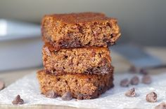 Gluten-Free Pumpkin Bars are the ultimate, healthy, pumpkin treat. They are secretly healthy and ultra scrumptious. Enjoy them plain, or topped with your favorite chocolate frosting. Gluten Free Pumpkin Bars, Gluten Free Baking, Pumpkin Recipes, Paleo Sweets, Paleo Dessert, Gluten Free Desserts, Whole Food Recipes, Cookie Recipes, Free Recipes