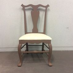 Chair chalk painted in coco brown (not sealed yet. Delicious Chocolate, Chocolate Brown, Chalk Paint, Dining Chairs, Antiques, Painting, Color, Furniture, Beautiful