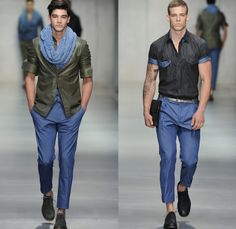 I would prefer it for Autumn. by Ermanno Scervino 2014 Spring Summer Mens Runway Collection - Milan Italy Catwalk Fashion Show. Gentlemen Wear, Catwalk Collection, Do Men, Catwalk Fashion, Denim Fashion, Fashion Men, Denim Jeans Men, Ermanno Scervino, Spring 2014