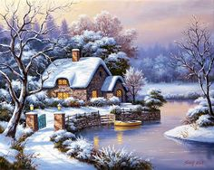 Gallery.ru / Фото #17 - Зимние домики. - Anneta2012