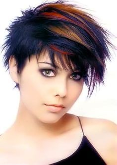 Short Funky Hairstyles Cabello Colores  Matthews Pictures  Pinterest  Bobs