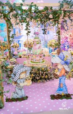 Sarah Kay, Holly Hobbie, Baby Shower Parties, Table Decorations, Decoration Party, Eat Cake, Balloons, Rose, Painting