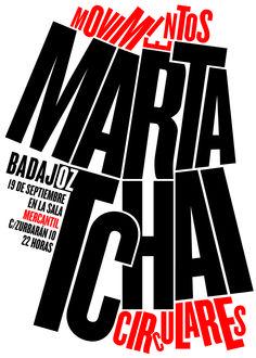 MARTA TCHAI, Movimentos Circulares. Concierto en Badajoz. Diseño: Rodrigo Sánchez.