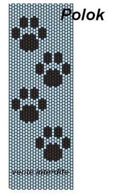 Pattes de chat Plus Loom Bracelet Patterns, Peyote Stitch Patterns, Seed Bead Patterns, Bead Loom Bracelets, Beading Patterns, Knitting Patterns, Peyote Stitch Tutorial, Loom Bands, Arts And Crafts