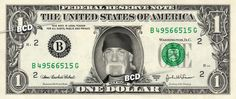 Hulk Hogan on Real Dollar Bill $1 Celebrity Bill Custom Cash Money WWE