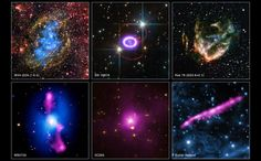 Six New Images from the Chandra Archive Collection