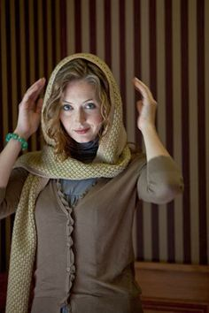 Wintersweet Scarf - Media - Wintersweet Scarf - Media - Knitting Daily Interweave pattern