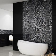 Black mosaic tiles Designer mosaic tile sheets at low trade pricesis free HD Wallpaper. Thanks for you visiting Black mosaic tiles Designe. Mosaic Bathroom, Bathroom Colors, Silver Bathroom, Small Bathroom, Bathroom Black, Bathroom Showers, Mosaic Tile Sheets, Mosaic Tiles, Black Wall Tiles