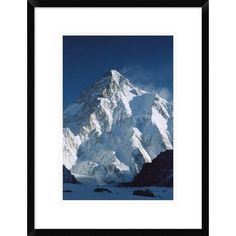"""Global Gallery 'K2 at Dawn' Framed Photographic Print Size: 24"""" H x 18"""" W x 1.5"""" D"""
