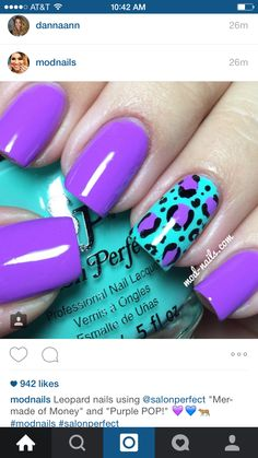 100 breathtaking ombre nails nails nails, purple nails и pur Purple Nail Art, Teal Nails, Purple Nail Designs, Nail Polish Designs, Nail Art Designs, Cheetah Nail Designs, Teal Art, Purple Teal, Hair And Nails