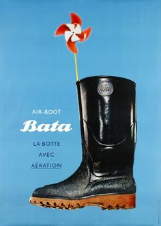 Bata Air-Boot, la botte avec aération by Leupin Herbert / 1952