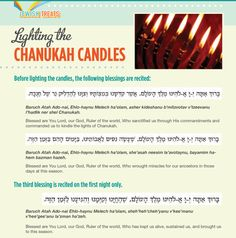 Blessings for lighting the candles. Hanukkah Candles, Jewish Hanukkah, Hannukah, Hanukkah Blessings, Hanukkah Traditions, Feasts Of The Lord, Festival Lights, Judaism