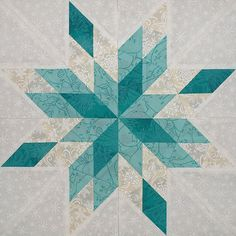 I'm going to recreate this block in blues and call it Starburst.