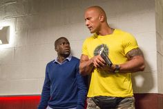 Central Intelligence Movie Still featuring Kevin Hart and Dwayne Johnson