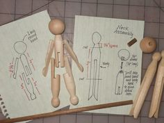 Clothes pin doll with movable arms and legs tutorial. If the arms and legs are attached with elastic they would move better!