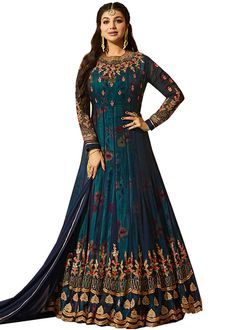 collection is semi stitched and free size, max chest set up to 44 inches # Has inner:yes 2 meter bottom, bottom fabric:santoon 2 meter bottom dupatta:yes wash care:dry clean Long Anarkali, Anarkali Gown, Anarkali Suits, Lehenga Choli, Winter Mode Outfits, Winter Fashion Outfits, Autumn Fashion, Stylish Gown, Beautiful Suit