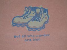 Life is Good Not All Who Wander Are Lost T-shirt tee mens XL Orange Peru