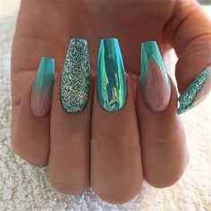 Trends Women 2019 with Acrylic Nails Acrylic Nails . 44 Trends Women 2019 with Acrylic Nails Acrylic Nails . 44 Trends Women 2019 with Acrylic Nails Acrylic Nails . Acrylic Nail Art, Acrylic Nail Designs, Nail Art Designs, Nails Design, Acrylic Nails Green, Glitter Nail Designs, Perfect Nails, Gorgeous Nails, Pretty Nails