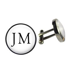 Monogram cufflinks | hardtofind.