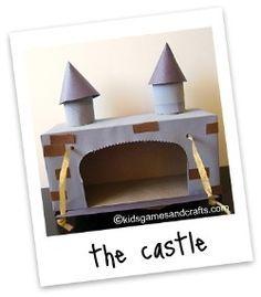 Tissue Box Castle Craft @ in-the-cornerin-the-corner