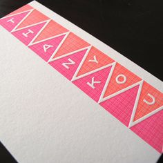 Thank You card inspiration, you never know when you'll need to say thank you in a creative way.