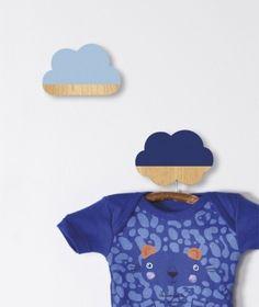 Set 2 Percheros Infantiles Nube Azul - Colgadores, baldas y estantes - Decoración - Minimoi - Minimoi