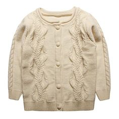 Coodebear Little Baby Girls Wide Hem Cashmere Cardigan Sweater