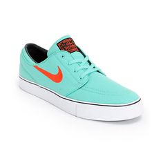 Freshen up your look with the crisp Nike SB Zoom Stefan Janoski Crystal Mint and Light Crimson skate shoes. Grab the low-profile Crystal Mint canvas colorway with Light Crimson Nike SB Swoosh, a Nike Zoom Air insole and vulcanized outsole for flex in the
