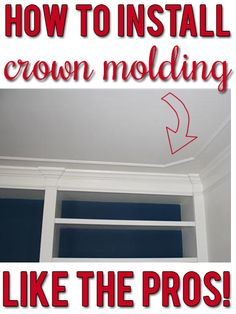 Step-by-step tips and secrets the pros use to get that custom crown molding look. Any DIYer can do this!