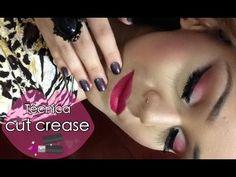 Cut Crease em tons de rosa - YouTube
